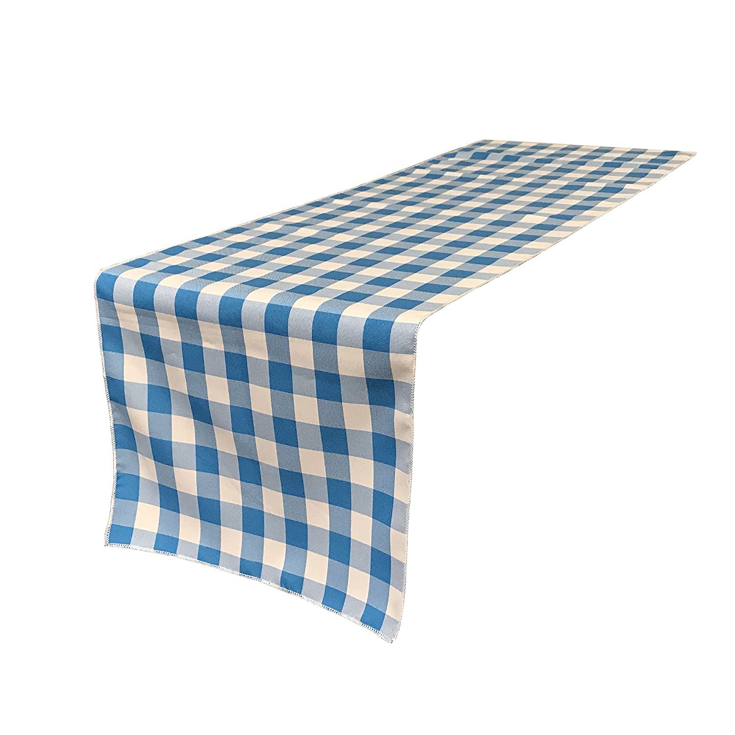 Amazon.com: LA Linen Double Sided Checkered Gingham Table Runner 14 ...