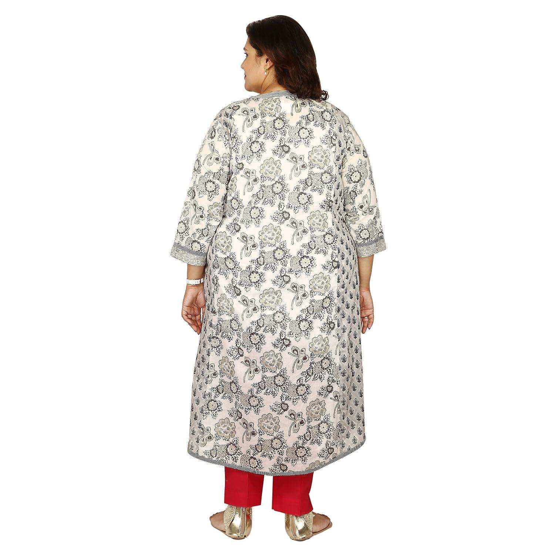 be74645a9fa Damyantii Women s Plus Size Cotton Straight Kurti (DS18 116 2XL ...