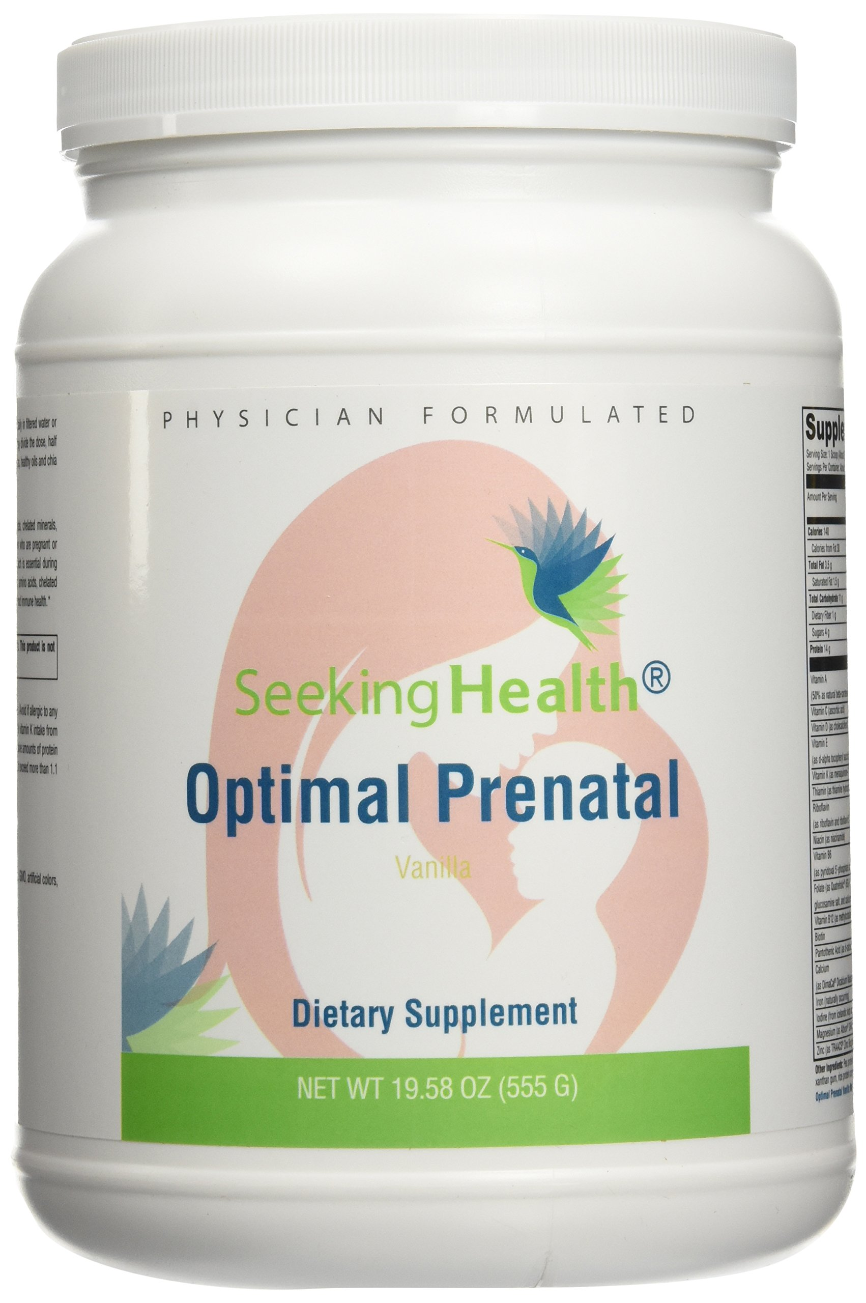 Optimal Prenatal Protein Powder | Non-GMO | Free of Common Allergens | Physician Formulated | Seeking Health (Vanilla - 15 Servings)