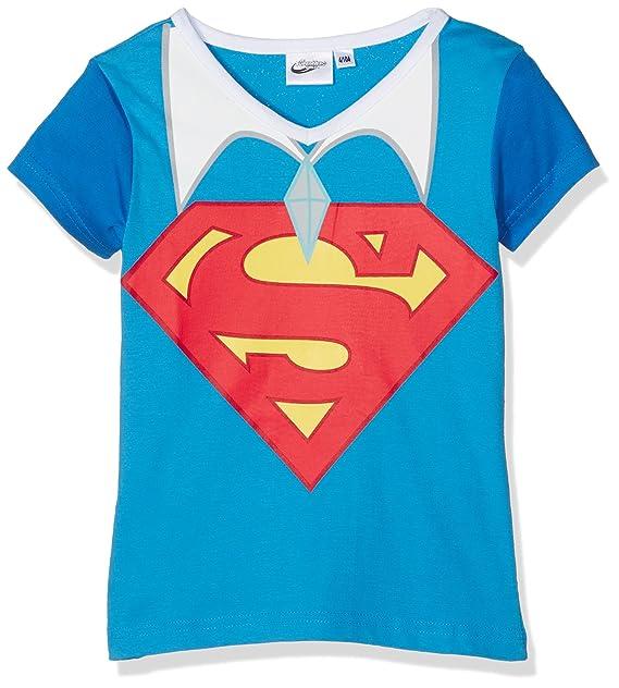DC Super Hero Girls DCHE27117, Camiseta para Niñas, Azul Dark Blue, 6 años: Amazon.es: Ropa y accesorios