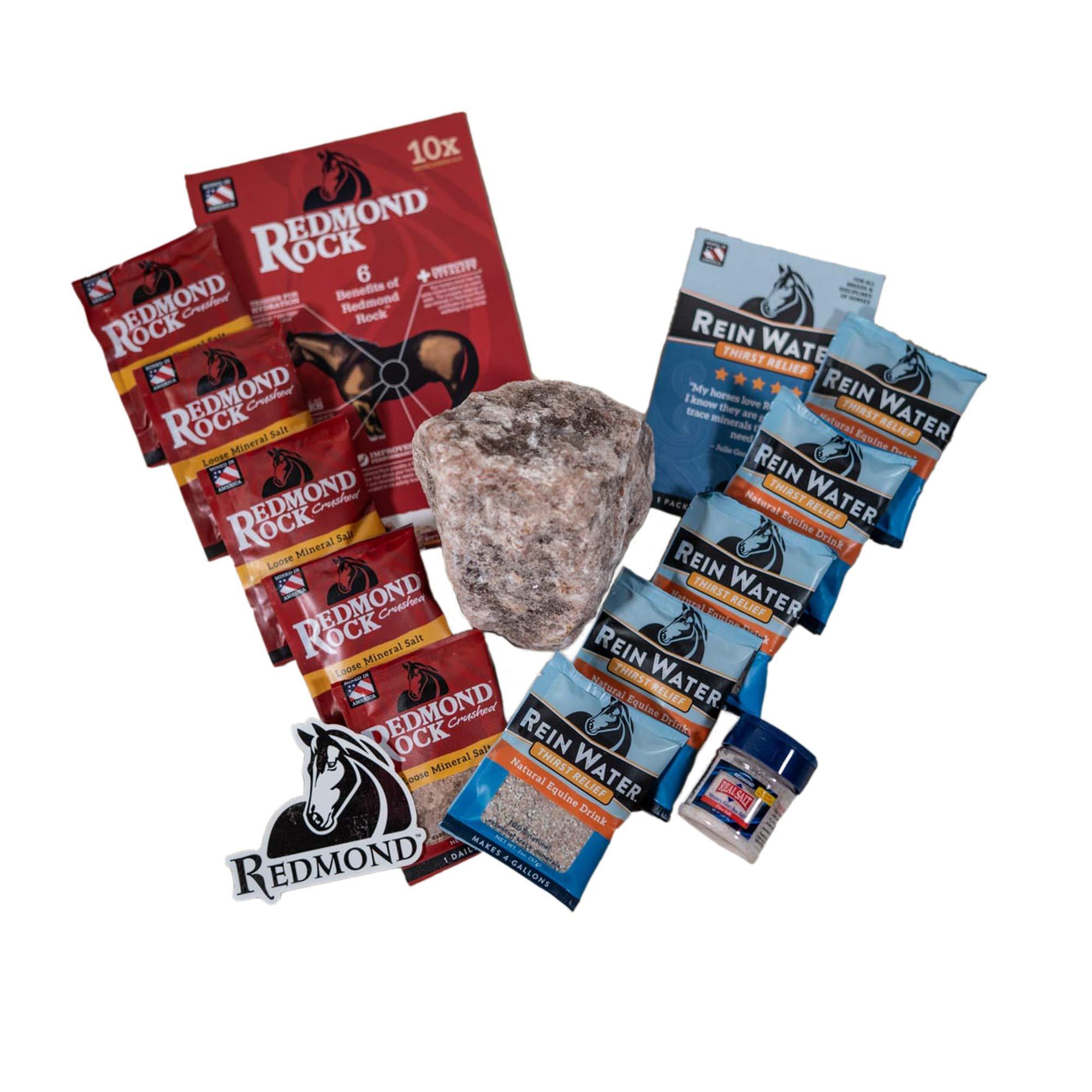 REDMOND Rock Crushed Loose Mineral Salt Electrolyte Supplement for Horses (Sample Pack) by REDMOND