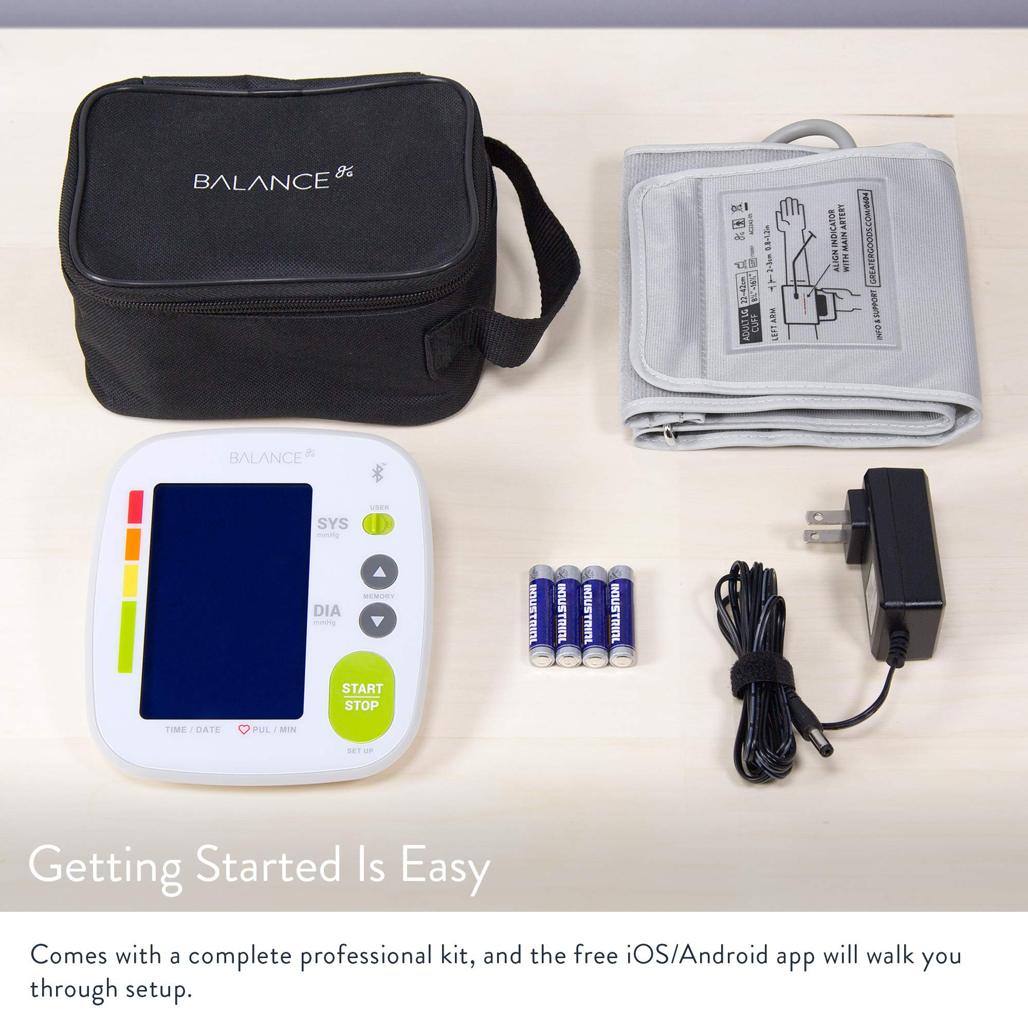 Bluetooth Blood Pressure Monitor Cuff by GreaterGoods by Greater Goods (Image #6)