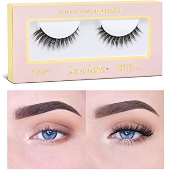 13d95530b07 Icona Lashes Premium Quality False Eyelashes | Queen of Hearts | Glamorous  With Volume | Natural