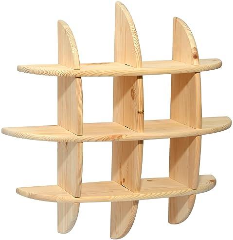 Holz wandregal design  dobar 29701FSC Offenes Design Wandregal zum Aufhängen, aus Holz ...