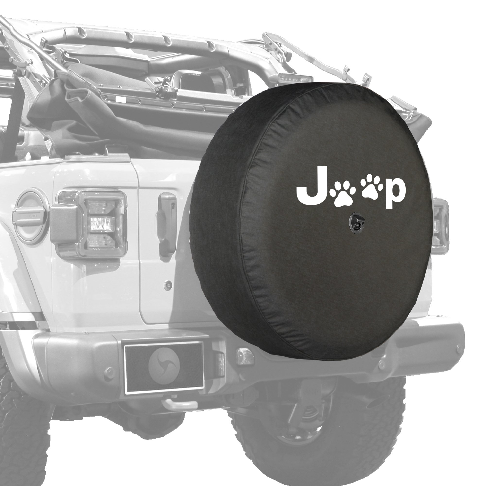 Boomerang 2018 Jeep Wrangler Rubicon JL & JLU - 33'' Soft Tire Cover - Jeep Paws by Boomerang (Image #2)