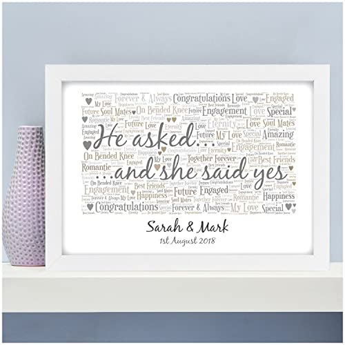 Personalised Engagement Gifts for Couples Engagement Engaged Couple ...