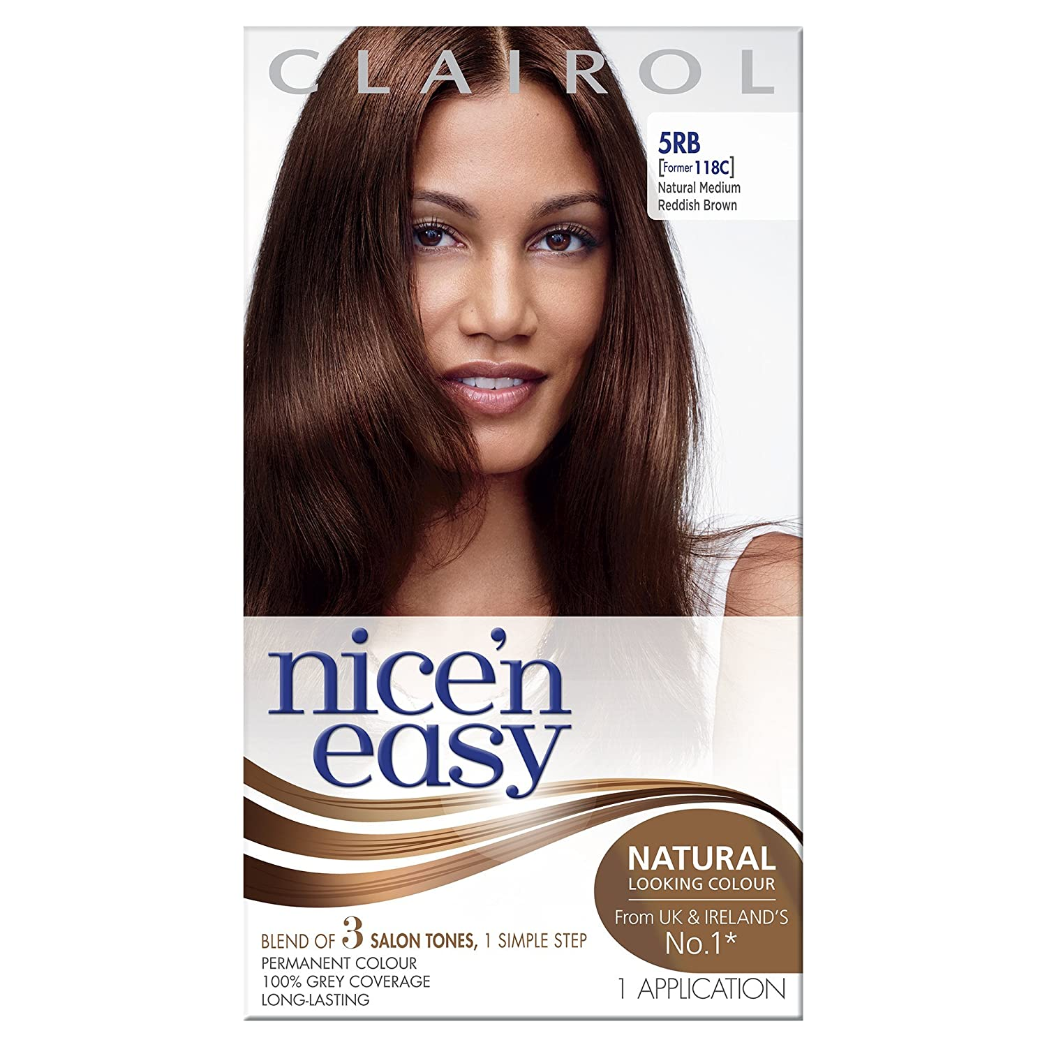 amazoncom clairol nice unu easy permanent hair colour c natural medium chestnut brown chemical hair dyes beauty