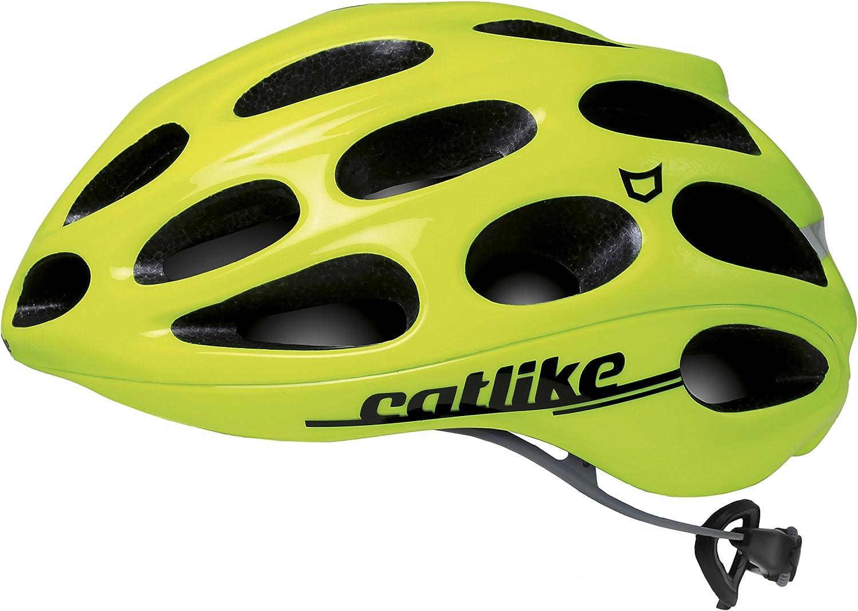 Catlike Olula Casco de Ciclismo, Unisex Adulto, Amarillo (Fluor ...