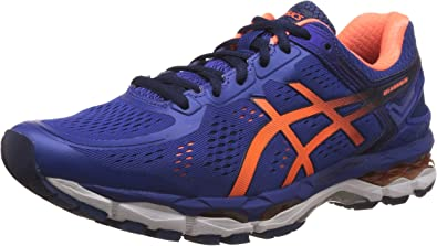 ASICS Mens Gel-Kayano 22 ASICS Blue, Hot Orange and Indigo Blue Running Shoes - 12 UK/India (48 EU) (13 US): Amazon.es: Zapatos y complementos