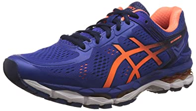 ASICS Men's Gel-Kayano 22 ASICS Blue, Hot Orange and Indigo Blue Running  Shoes
