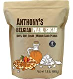 Anthony's Belgian Pearl Sugar, 1.5 lb, Batch Tested and Verified Gluten Free, Medium Sized Pearls