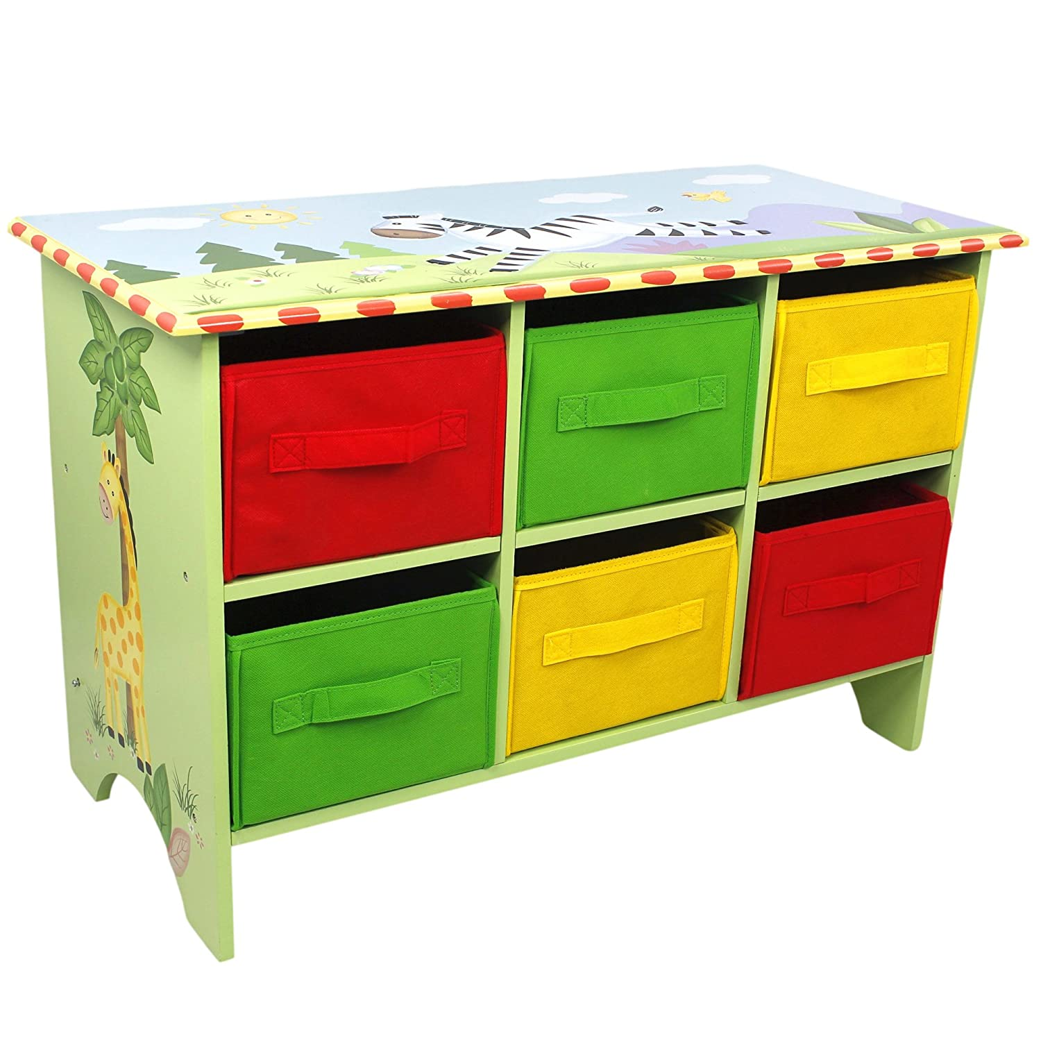 Amazon.com: Fantasy Fields   Sunny Safari Animals Thematic Storage Cubby  Base Set | Imagination InspiringHand Crafted U0026 Hand Painted Details  Non Toxic, ...