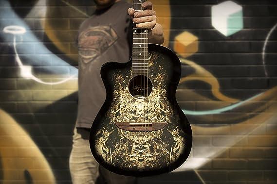 Guitarra acústica negra para zurdos 933C Alien de Lindo y estuche para guitarra: Amazon.es: Instrumentos musicales
