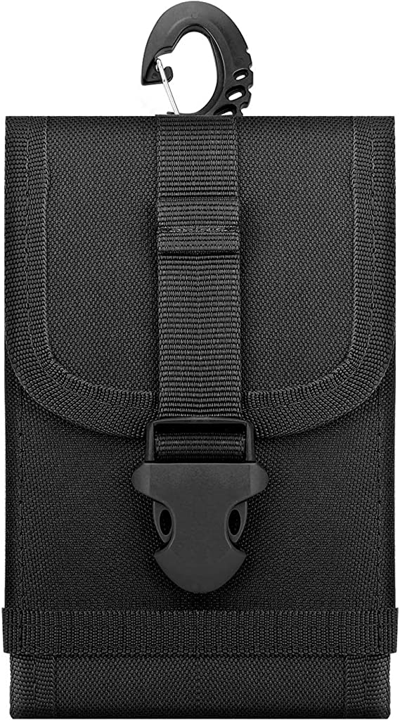 iPhone 11 Pro//11//11 Pro Max//Xs Max//XR//Xs//X Black Nylon Belt Pouch Holster Cover Waist Bag Fit 6.8 Phone Galaxy Note 10//Note 10P//S10e//S10//S10P//S20 iPhone SE 2020 MoKo Phone Belt Clip Holster