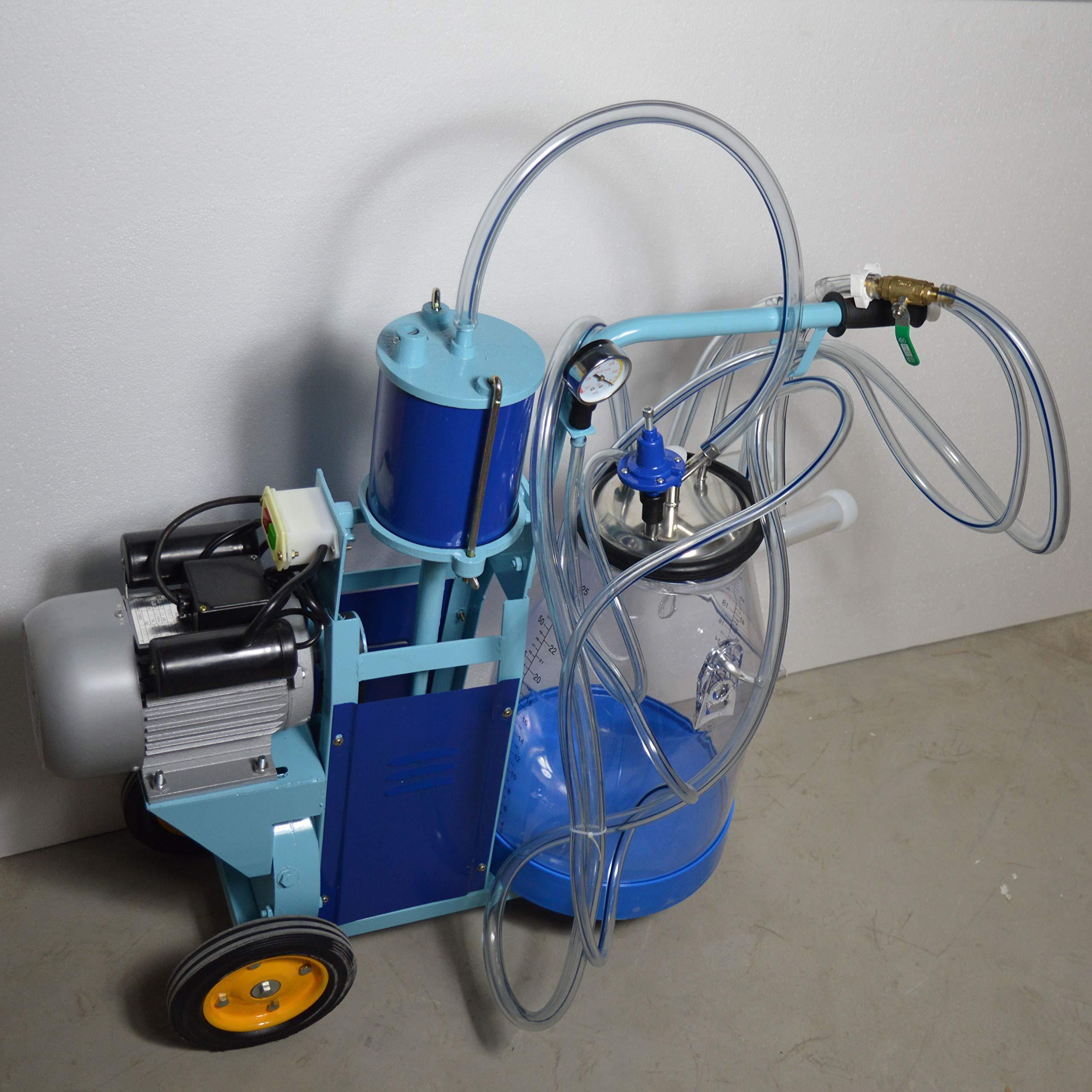 Techtongda Goat & Cow Milking Machine Milker Transparent Bucket #170685