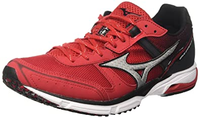 timeless design 33a9a b4c0c Mizuno Wave Emperor, Chaussures de Running Homme, Multicolore  (Chinesered White Black