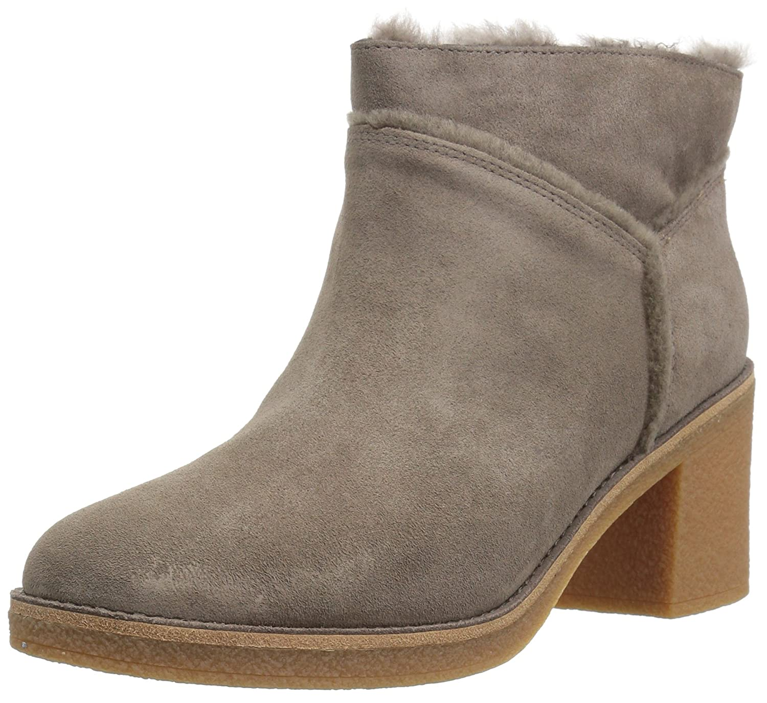 Ugg Women s Kasen Mouse Women s Ankle Boot Leather Heeled Ankle Boot In Chestnut Suede Mouse 4ffa137 - reprogrammed.space