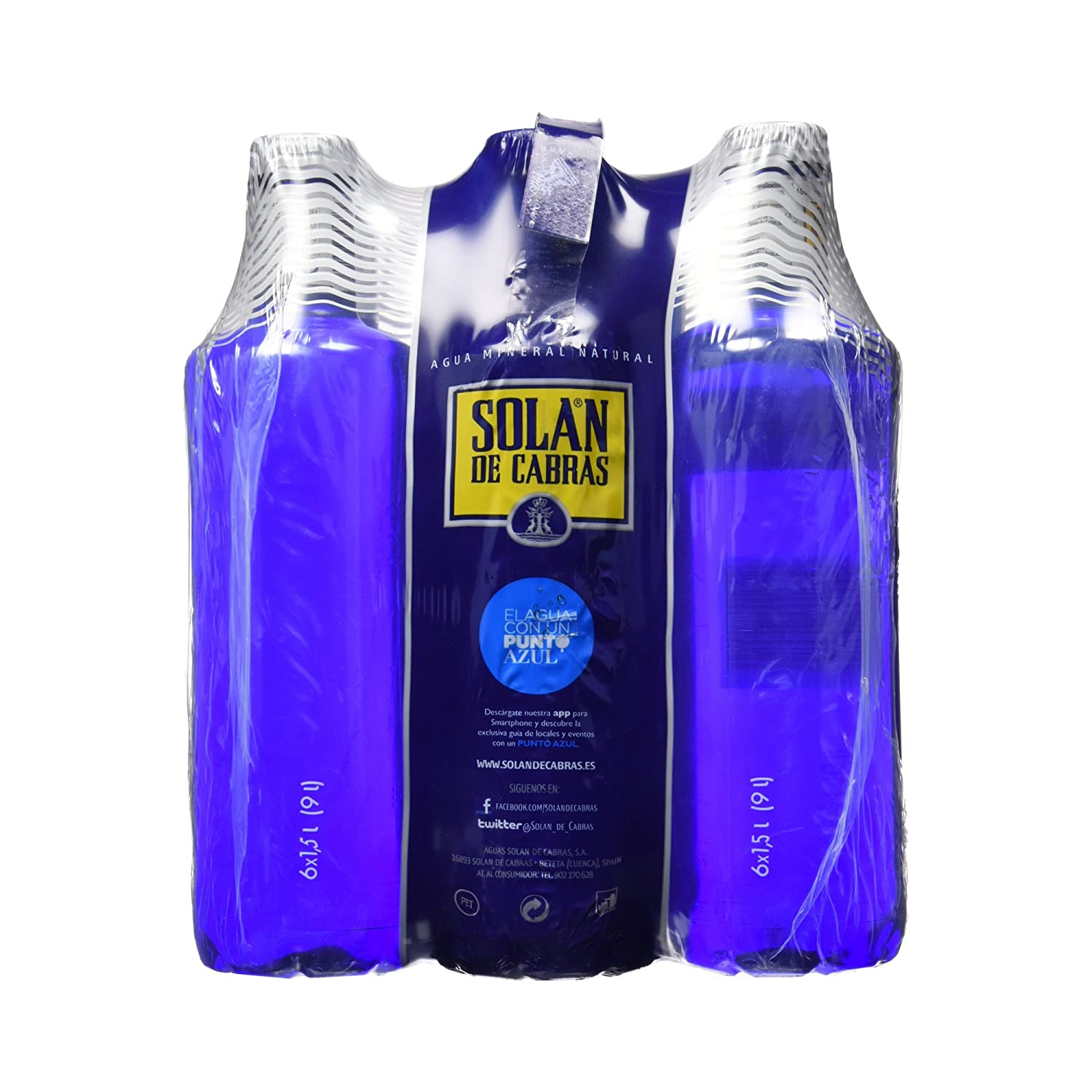 Solán De Cabras Agua Mineral Natural - Pack de 6 x 1,5 l - Total: 9000 ml: Amazon.es: Amazon Pantry