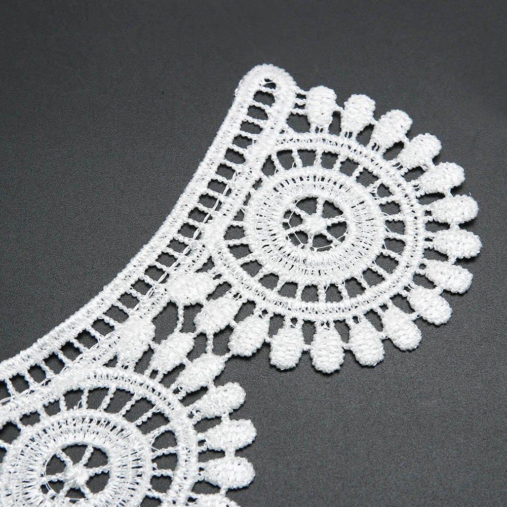 La Cabina Femme El/égant Col en dentelle Dentelle Collier Ras du Cou D/écoration de V/êtement Fausse Noeud Papillon Multi-style Blanc et Noir