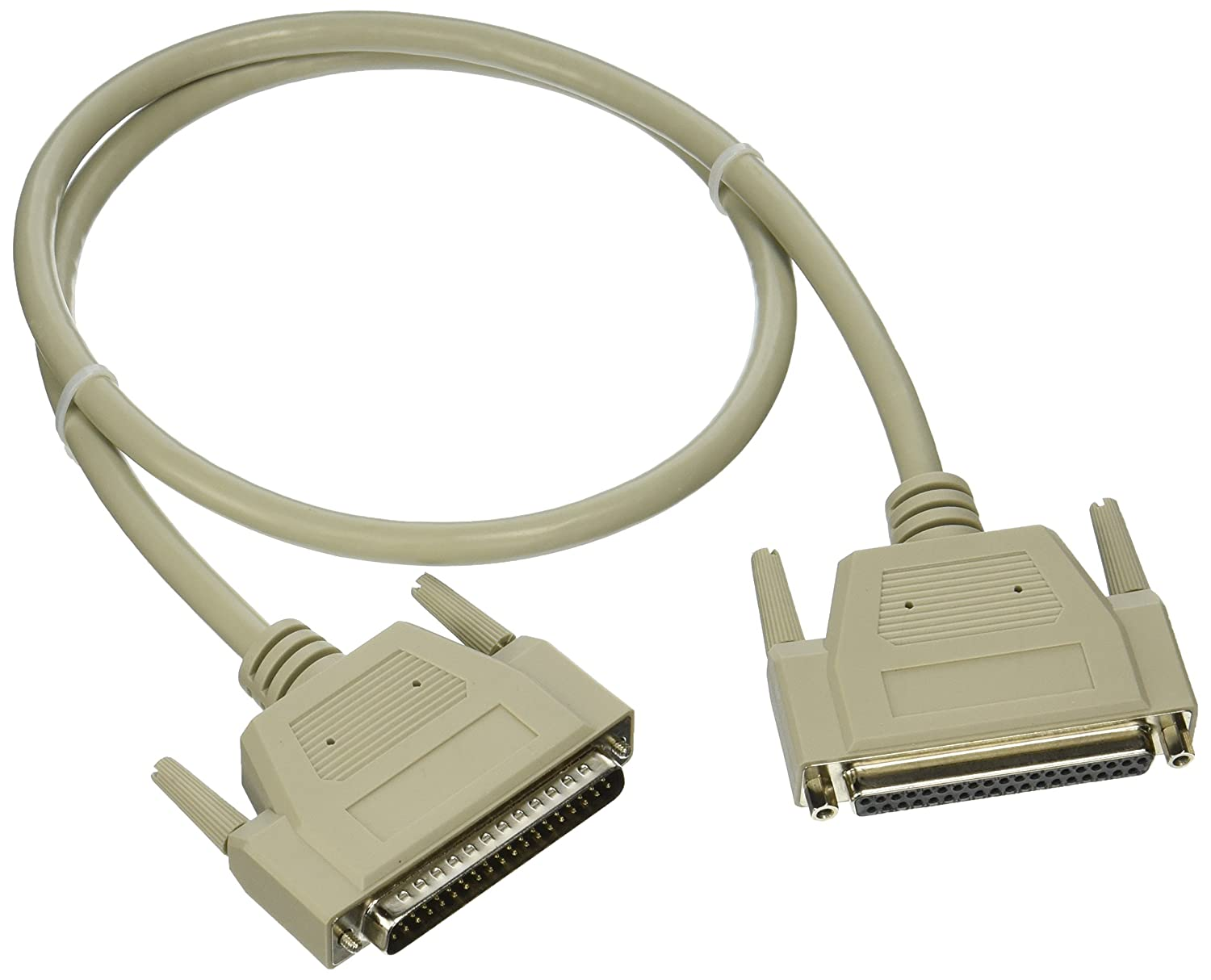 C2G 02688 DB37 M/F Serial RS232 Extension Cable, Beige (3 Feet, 0.91 Meters) C2g (Cables to Go)