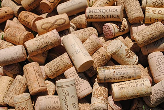 100 Used All Natural Recycled Wine Corks