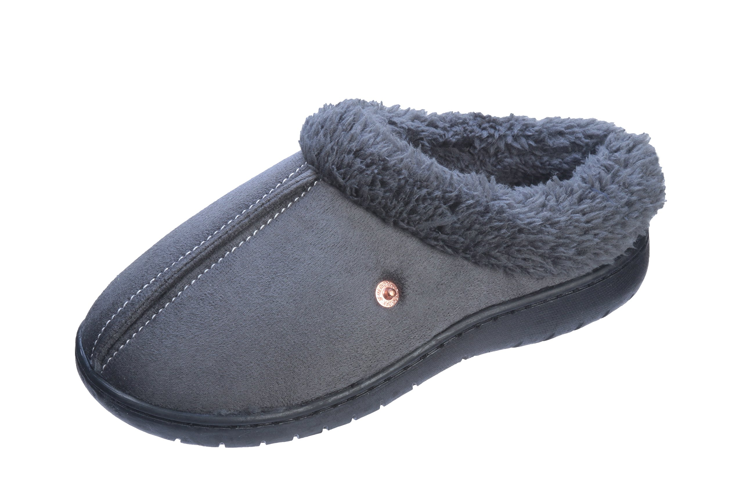 Pupeez Boys Extra Comfort and Warmth Kids Bedroom Slippers, 2-3 M US Little Kid, Gray