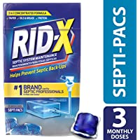 Rid-X Septic Tank Treatment Enzyme Septi-Pac 3-Month Pack