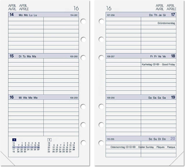 A5 Kalendereinlage 2020 f/ür ALMADIH Ledermappen: A5 Terminplaner /& Organizer - Ersatzkalendarium Kalender Einlagen Zeitplaner Time-Planer Jahresplan 1 Woche auf 2 Seiten A5 2020-1 Woche 2 Seiten