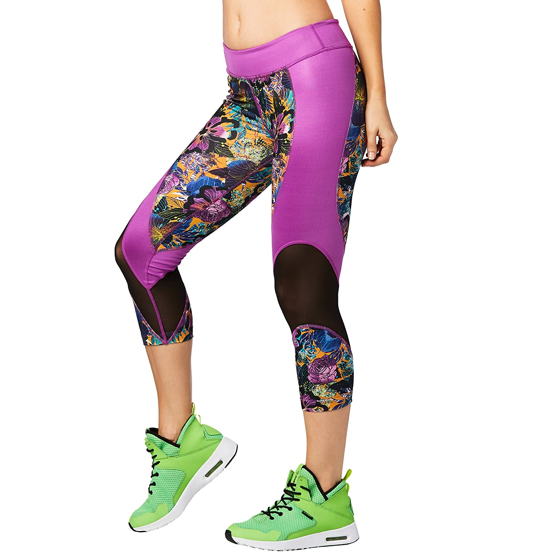 Zumba Fitness Damen La Pachanga Mesh Capri Leggings Frauenhose