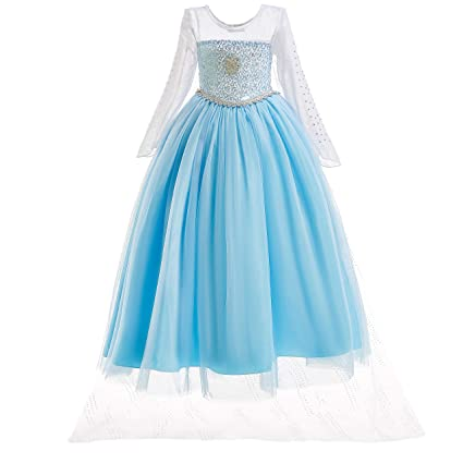 UK1stChoice-Zone Princesa Disfraz Traje Parte Las Niñas Vestido (Girls Princess Fancy Dress) FBA-IT-DRESS (5-6 Años, DRESS-204)