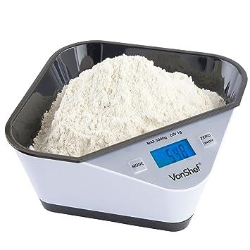 Vonshef Kuchenwaage Mit Hoher Prazision Hohe Kapazitat Von 5kg 11lb