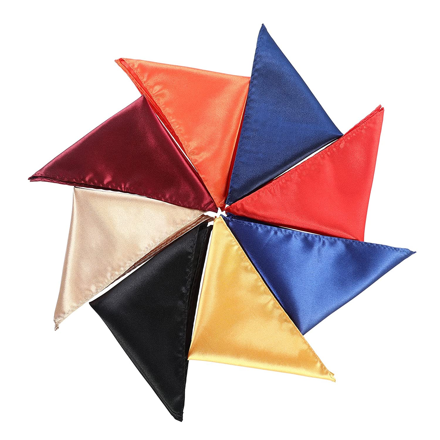 Pocket Squares Handkerchief for Men - 10PCS Pocket Towel for Wedding Party