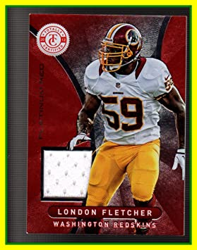 2012 Totally Certified Red Materials GAME USED JERSEY #72 London  for sale