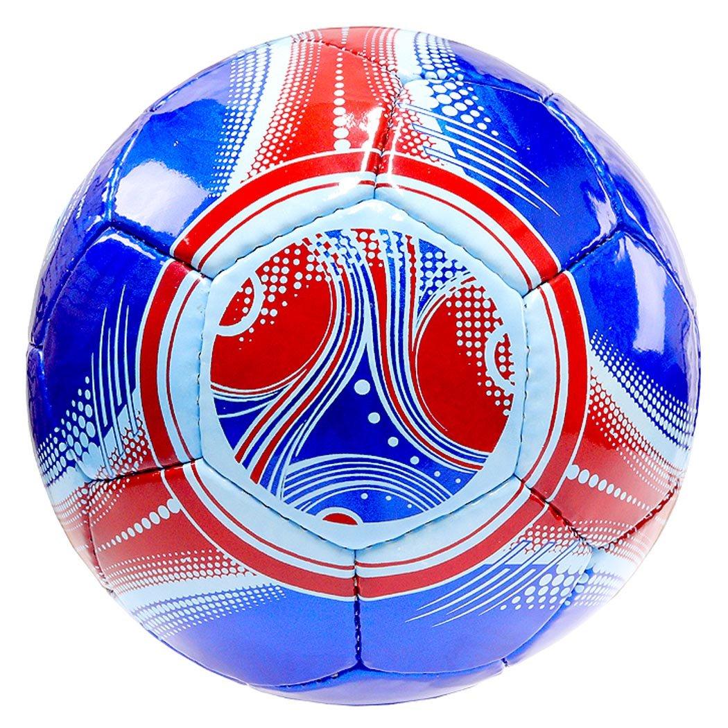 Perriniインドアアウトドアスポーツブルーレッドトリムサッカーボールサイズ5 B078P47F2J