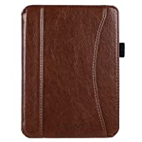 Mosiso PU Leather Case Compatible with 2018 Kobo Clara HD, Lightweight Protective Book Folio Tablet Cover with Magnetic Closure and Card Compartment for Newest Released Kobo 6 inch E-Reader, Brown