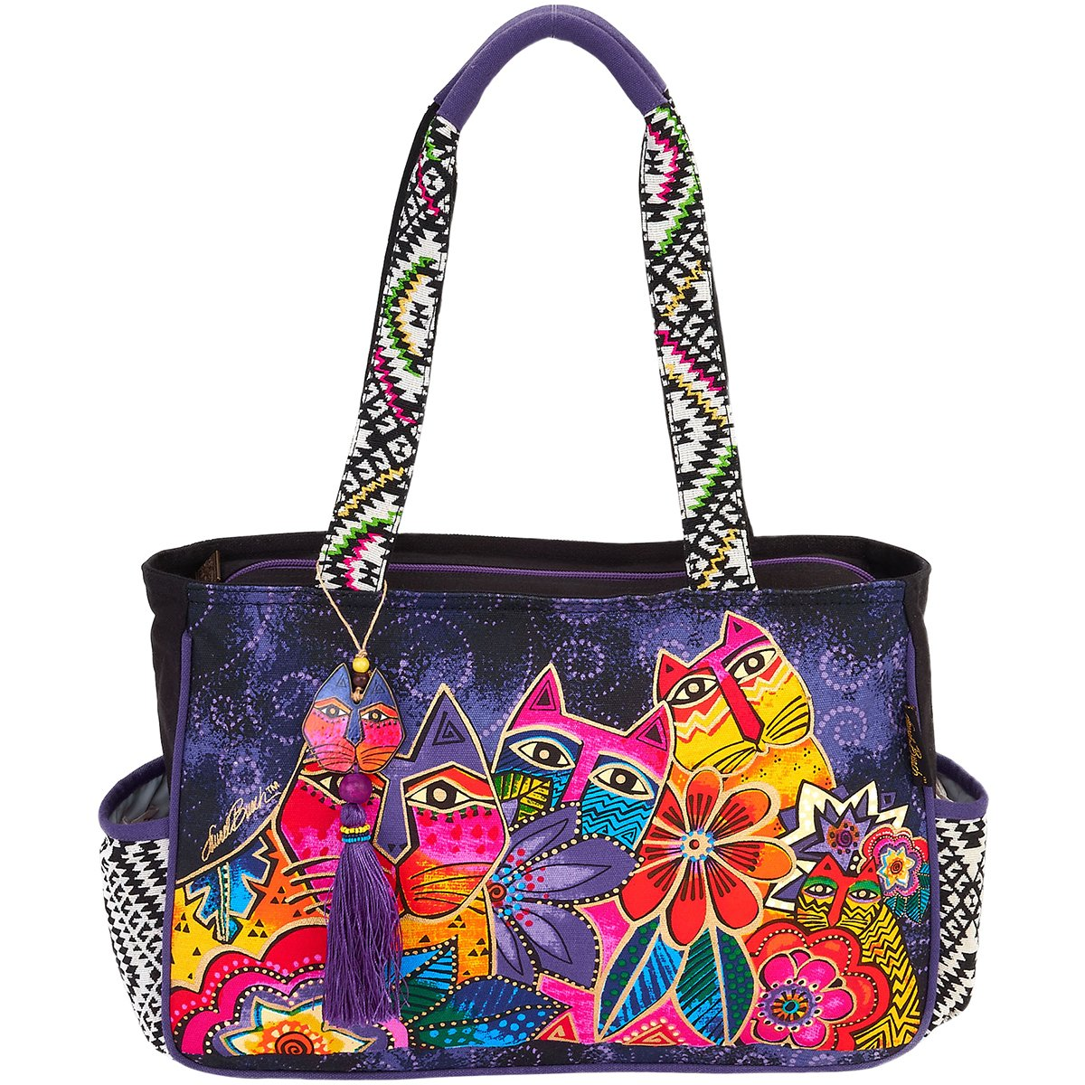 Laurel Burch Laurel's Garden Medium Tote Handbag