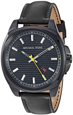 184c31c7564d Amazon.com  Michael Kors Men s Bryson Stainless Steel Analog-Quartz Watch  with Leather Strap