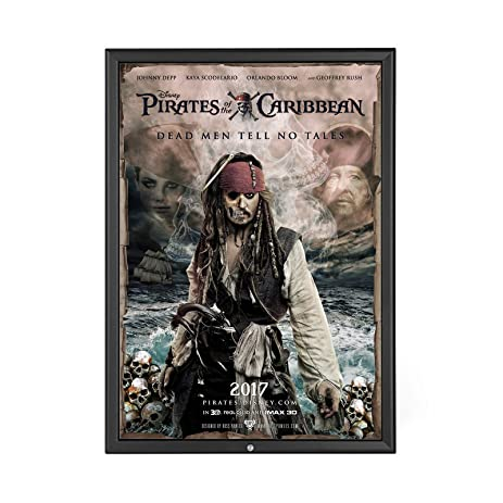 locking movie poster frame 27x40 inches black snapezo 125 aluminum profile lockable front - Movie Poster Frames 27x40