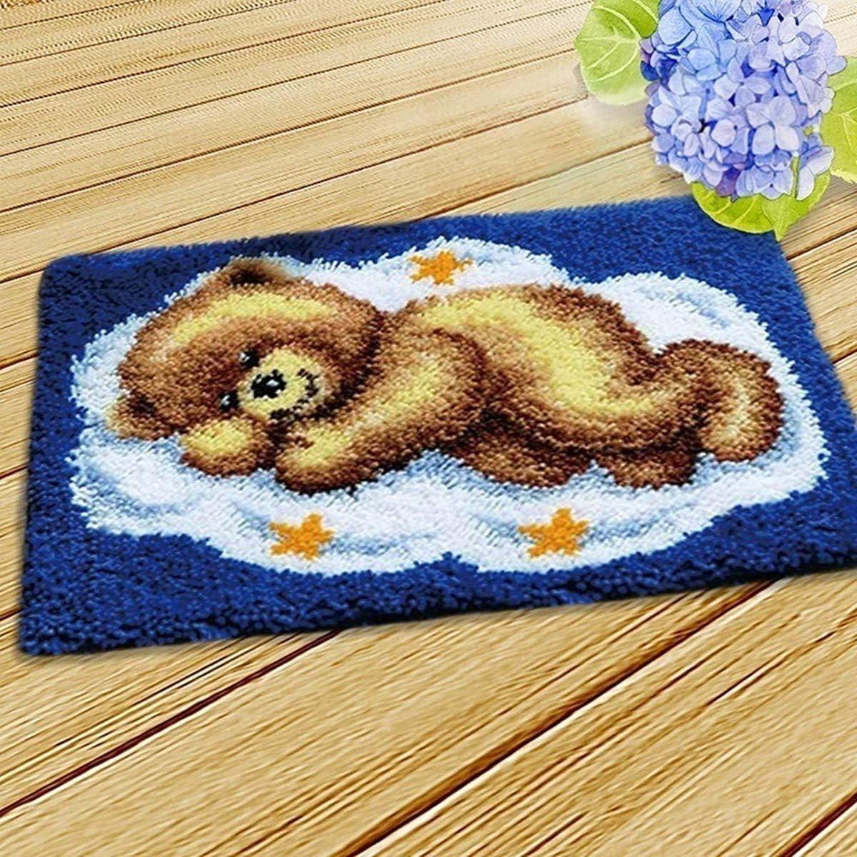 Latch Hook Kits Carpet Embroidery Cross Stitch Sofa Cushion Carpet Plush Floor Mat Embroidery Kit DIY Carpet Making Home Decor