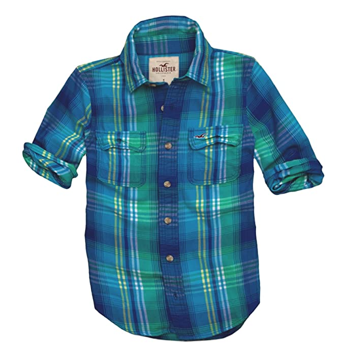 liquidación de venta caliente 100% de garantía de satisfacción 2019 original Hollister - Camisa casual - con botones - Cuadrados - Manga ...