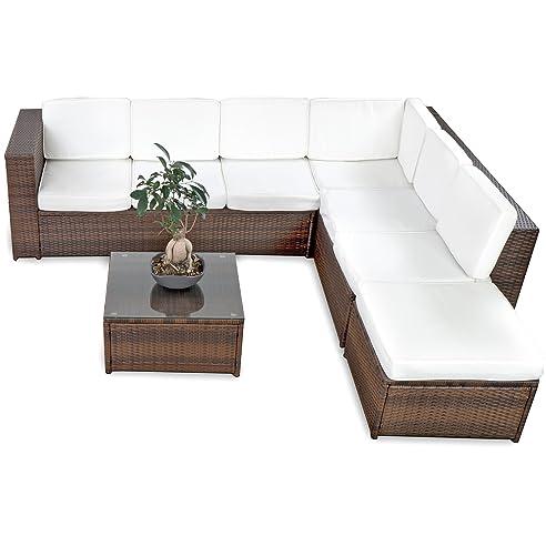 Rattan gartenmöbel sofa  Amazon.de: XINRO 19tlg XXXL Polyrattan Gartenmöbel Lounge Sofa ...