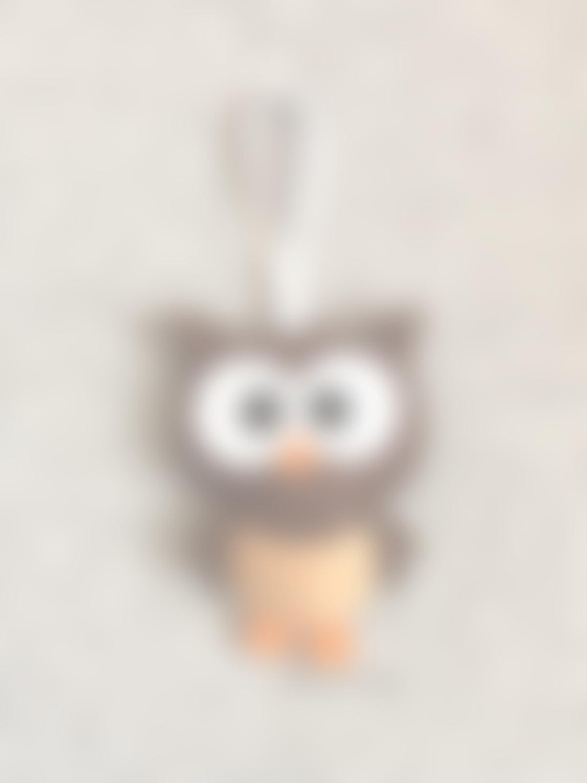 Amazoncom Owl Christmas Ornament Brown Felt Handmade