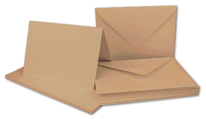 Faltkarten Set mit Brief-Umschlägen DIN A6   C6 in Rosanrot   100 Sets   14,8 x 10,5 cm   Premium Qualität   Serie FarbenFroh® B076H2YST8 | Hohe Qualität Und Geringen Overhead