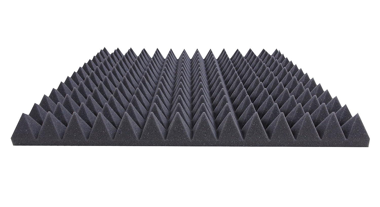 Akustikpur Akustikschaumstoff Pyramidenschaumstoff 49 cm x 49 cm x 5 cm Schalld/ämmmatten zur effektiven Akustik D/ämmung ca DIN MVSS302 Flammhemmend Akustikpur