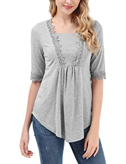 Amazon.com: Camiseta de manga larga casual para mujer ...