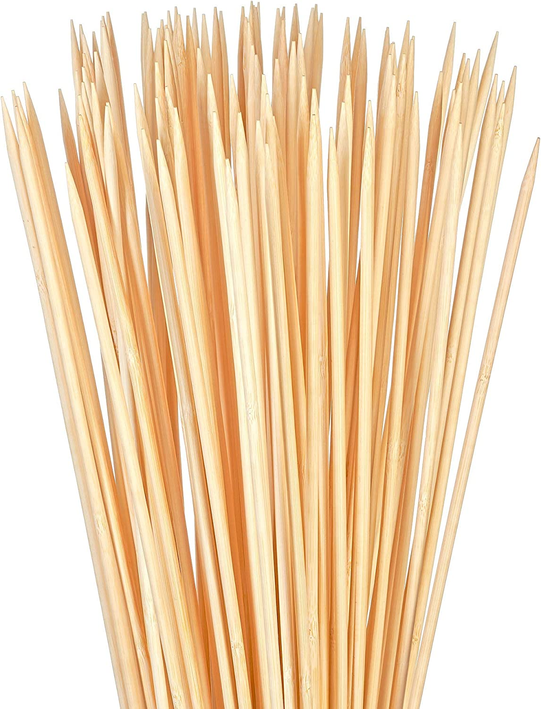 Bambu Stix Marshmallow Roasting Sticks - 36 Inch 5mm Thick Heavy Duty - Extra Long Bamboo Sticks - Smores Sticks - Bonfire Skewers - Bamboo Skewer - 100% Compostable (100 Piece)