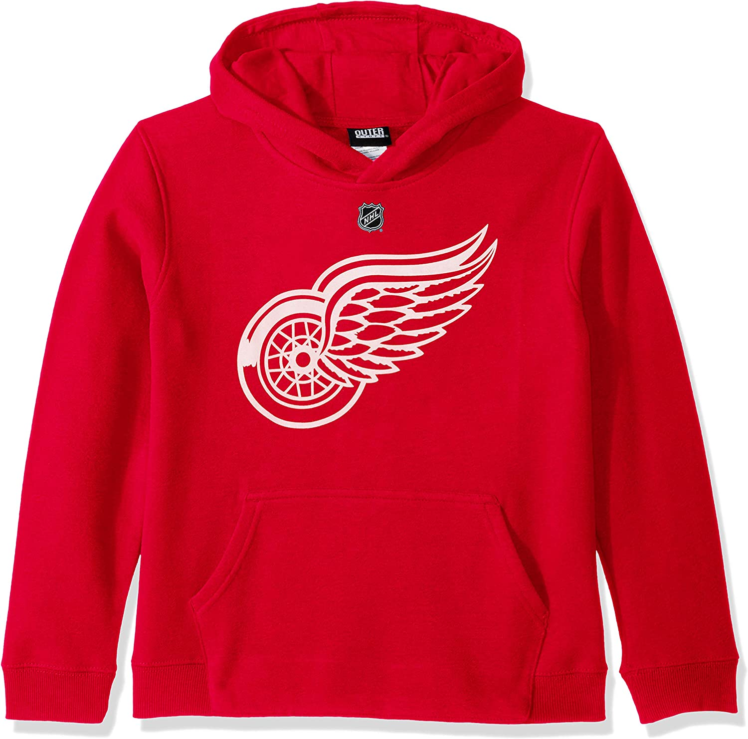 Youth Small 8 Red NHL by Outerstuff NHL Detroit Red Wings Youth Boys Primary Logo Fleece Hoodie