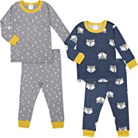 GERBER Baby Boys' Organic 2 Pack 2-Piece Cotton Pjs