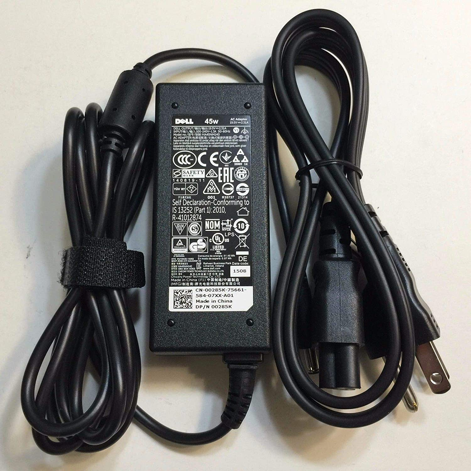 New Genuine AC for Dell 45 Watt AC Adapter with Power Cord 00285K 0285K