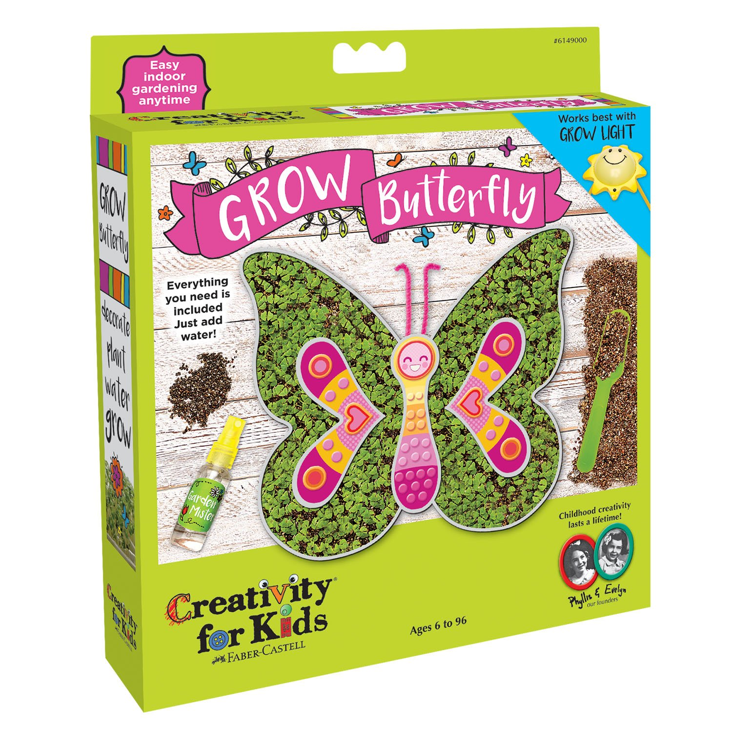 Creativity for Kids GROW Butterfly - Chia Seed Indoor Gardening Kit for Kids